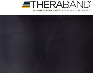 Thera Band Übungsband Fitnessband Physioband Widerstand 5m spezial stark schwarz
