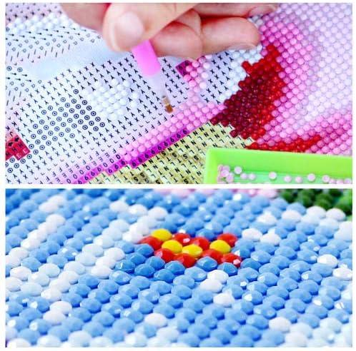 Zyywcj 5D Diamond Painting Kits For Adults Kids Full Drill Round Dotz Rhinestone Paint Cross Stitch Art Craft Home Wall Decor Xmas Gift,Small Town,30x40cm