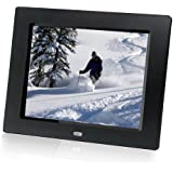 HP df810v1 8-Inch Digital Picture Frame (Contemporary Black)