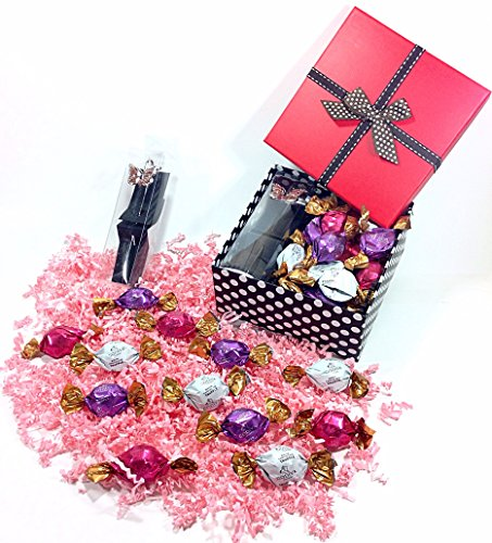Mothers Day or Birthday Gift Box of Assorted Godiva Gourmet Chocolate Truffles Candy & Bookmark - Butterfly