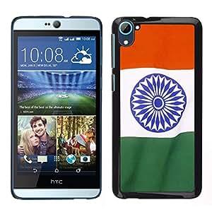 LECELL--Funda protectora / Cubierta / Piel For HTC Desire D826 -- Bandera de la India --