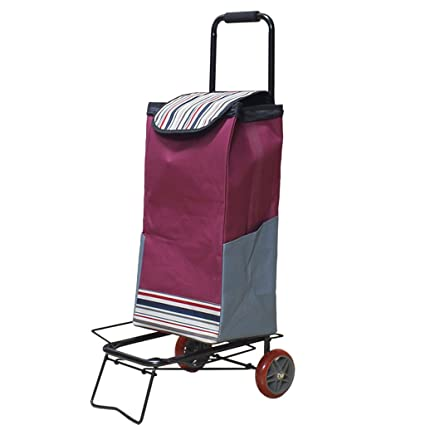 9dbeff344280 Amazon.com: ZJⓇ Hand Cart Hand Truck Trolley Household Folding ...