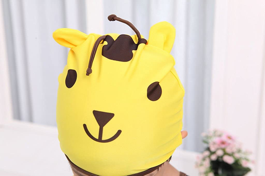 Baby Boys Cartoon Giraffe One Piece Swimsuit With Hat