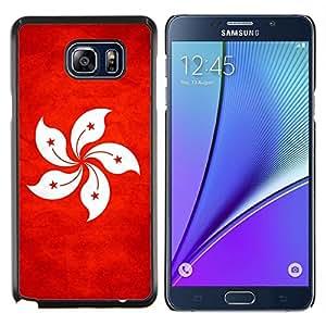 EJOOY---Cubierta de la caja de protección para la piel dura ** Samsung Galaxy Note 5 5th N9200 ** --Nación Bandera Nacional País Hong Kong