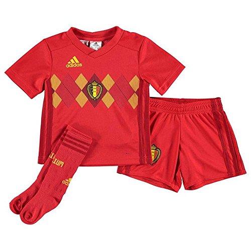 Gold Mini Soccer Jersey - adidas 2018-2019 Belgium Home Mini Kit