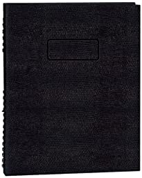 NotePro Undated Daily Planner, Black, 200 Pages,11 x 8-1/2 Inches