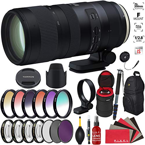 Price comparison product image Tamron SP 70-200mm f / 2.8 Di VC USD G2 Lens for Nikon F with Heavy Duty Lens Case and Accessories