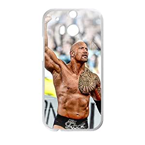 RHGGB WWE World Wrestling The Rock White Phone Case for HTC One M8