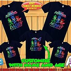 3d43190fda0 Amazon.com  PJ Masks Birthday Shirt