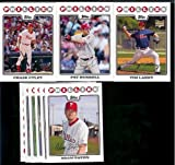 2008 Topps Philadelphia Phillies Series 1&2 Baseball Cards Complete Team Set of 22 cards including Chase Utley, Jimmy Rollins, Ryan Howard and more !