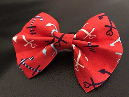 Homemade Sailor Boy Costumes (Dog Bow Tie in Red, White and Blue Anchors Nautical Sailor)