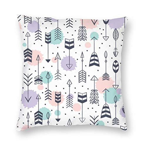 Undertale Annoying Dog Cute Arrows Decorative Square Throw Pillow Covers Soft Soild Pillow Slips for Sofa Bedroom Car