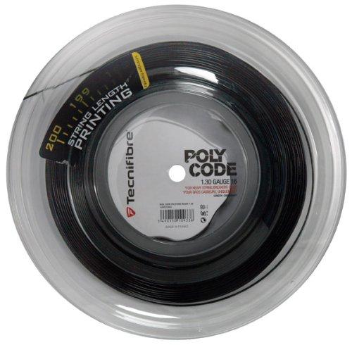 (Tecnifibre Synthetic Gut Tennis String Reel-Black-17)