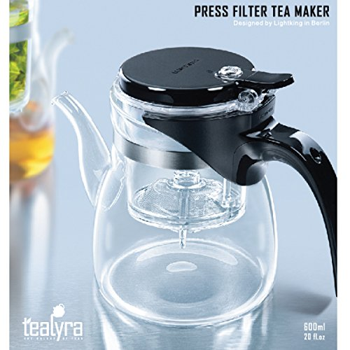 Tealyra® - High Quality Loose Leaf Tea Maker - Glass Teapot w/ Built in Infuser and Removable Filter (600ml / 20 fl.oz) (Pot With Built In Strainer compare prices)