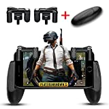 Lanyi Mobile Game Controller, 1 Pair Survival Game Triggers for Knives Out/PUBG/Rules of Survival and 1 Pair Mobile Game Controller for 4.5-6.5inch Android IOS Phones For Sale