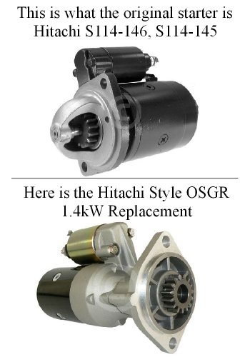 (New Gear Reduction Starter Yanmar Tractor 2TR20, 2TR17 Engine (S114-145, S114-146) - 16710 H-OSGR)
