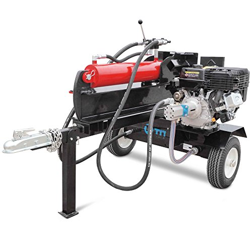 Titan Towable Gas Powered Hydraulic Pivoting Log Wood Splitter 37 Ton Pull Start by Titan Great Outdoors