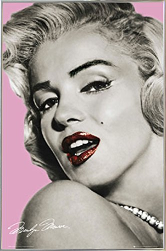 Marilyn Monroe - Lips Poster in a Silver Metal Frame  04133-