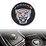 Exotic Store 42 MM Metal (not Plastic) Modified Car Gear Shift Knob Cover Emblem Sticker for Jaguar F-Pace XJ XE XF Gear Shift Knob shifter Center Emblem Cover SUPERCHARGED (Black)