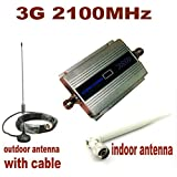 JT 3G Mobile Signal Enhancer, Repeater, Booster, Amplifier 2100 MHz GSM for Voice and 3G Data . Complete kit with Indoor, Outdoor Antenna, Cable Set.