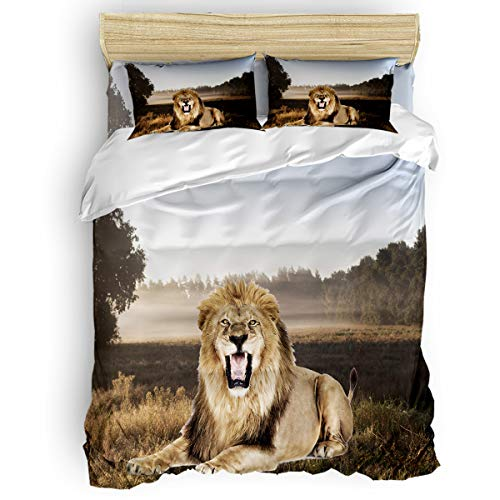 growling lion bedding set