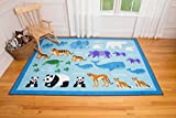 Olive Kids Endangered Animals 5x7 Rug