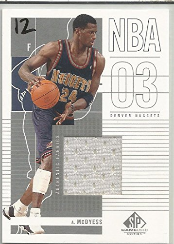 2002 SP Game Used Edition Basketball Antonio McDyess Game Worn Jersey Card