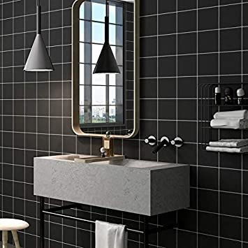ZCHENG 60 CM X 1 Mt selbstklebende Tapete für Badezimmer ...