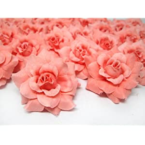 "(24) Silk Orose Roses Flower Head - 1.75"" - Artificial Flowers Heads Fabric Floral Supplies Wholesale Lot for Wedding Flowers Accessories Make Bridal Hair Clips Headbands Dress 81"