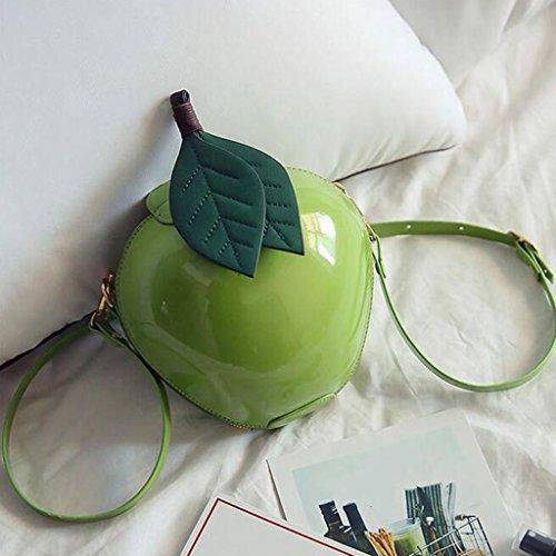 Liu Yu·casa creativa Bolso de Crossbody Bolso de la Diagonal de Hombro de Las Mujeres Bolso Pequeño de la Personalidad Bolso de la Mochila Dura Brillante (Color : Green) Green