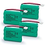 QBLPOWER 27910 Cordless Phone Battery Rechargeable Compatible with Vtech 89-1323-00-00 at&T E1112 E2801 TL72108 Motorola SD-7501 RadioShack 23-959 Cordless Handsets 3.6V(Pack of 4)