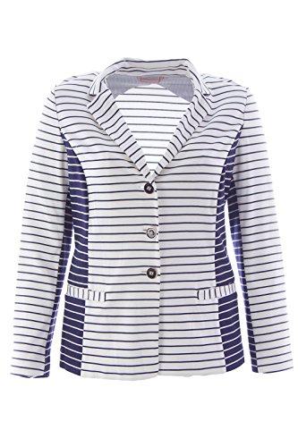 Marina Rinaldi Women's Occorso Jersey Blazer Medium Navy & White]()