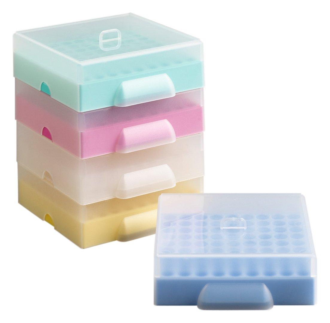 Camlab plastica, RTP/B -76001 81 luogo Maxicold sostegni e coperchio, in polipropilene, colore: blu (confezione da 5) 1158331