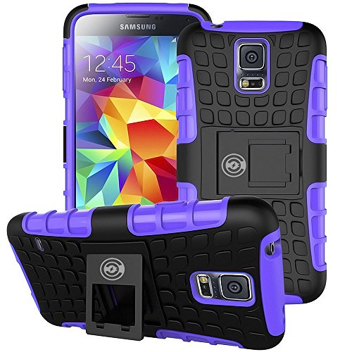 Price comparison product image Cable And Case, Galaxy S5 Case Purple - Ultra Tough Protection For Your Samsung Galaxy S5 Phone