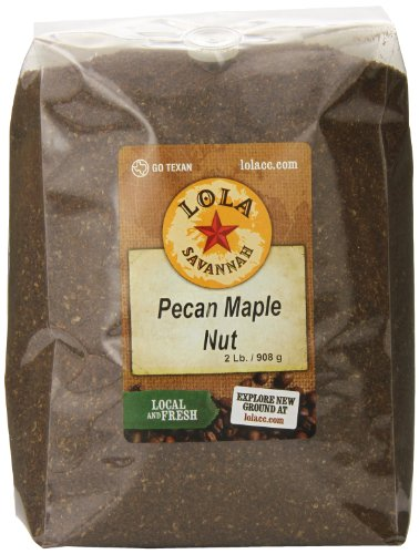 Pecan Nut Cups - Lola Savannah Pecan Maple Nut Ground Coffee - Crafted Rich Pecan Nutty Flavor & Hint of Maple Syrup | Caffeinated | 2lb Bag