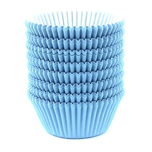 Eoonfirst Standard Size Baking Cups 200 Pcs (Light Blue)