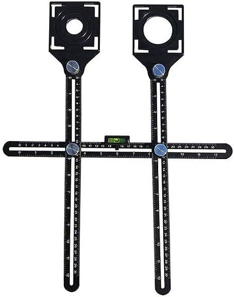 Evmho Multi-Angle Measuring Ruler Ceramic Tile Hole Locator Multi-Angle Measuring Ruler Universal Angularizer Template Tool
