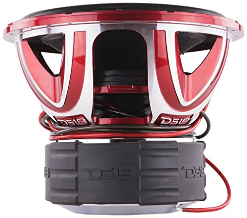 Coil Voice Quad (DS18 HOOLIGAN X15.1D Subwoofer in Red with Kevlar Enforced Paper Cone and Upgraded Spider - 6,000W Max, 4,000W RMS, Dual 1 Ohms - Powerful Car Audio Bass Speaker (1 Speaker))