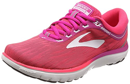 Brooks PureFlow 7, Chaussures de Running Femme Rose (Pink/Pink/White 1b684)