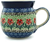 Polish Pottery Bubble Mug 8 oz Maraschino