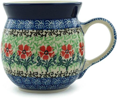 Polish Pottery Bubble Mug 8 oz Maraschino