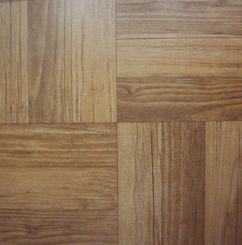 100 Vinyl-Bodenfliesen, selbstklebend, dunkles Holz