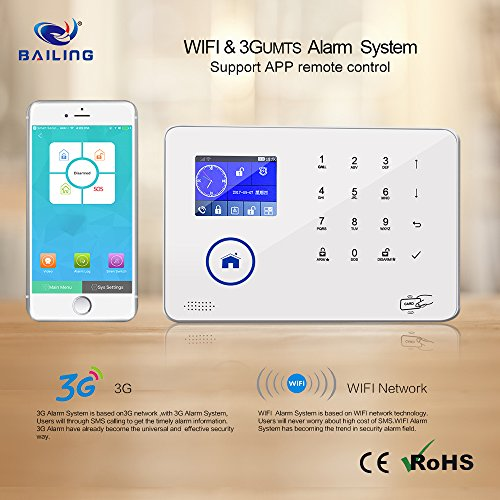BAILING Wireless LCD 3G WiFi & SMS Home House Security Burglar Intruder Alarm System Auto Dialer