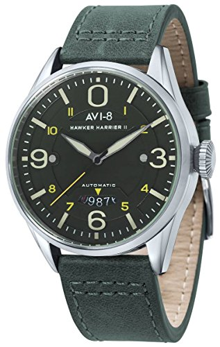 AVI-8 Mens Hawker Harrier II Watch - Dark Green/Green/Silver
