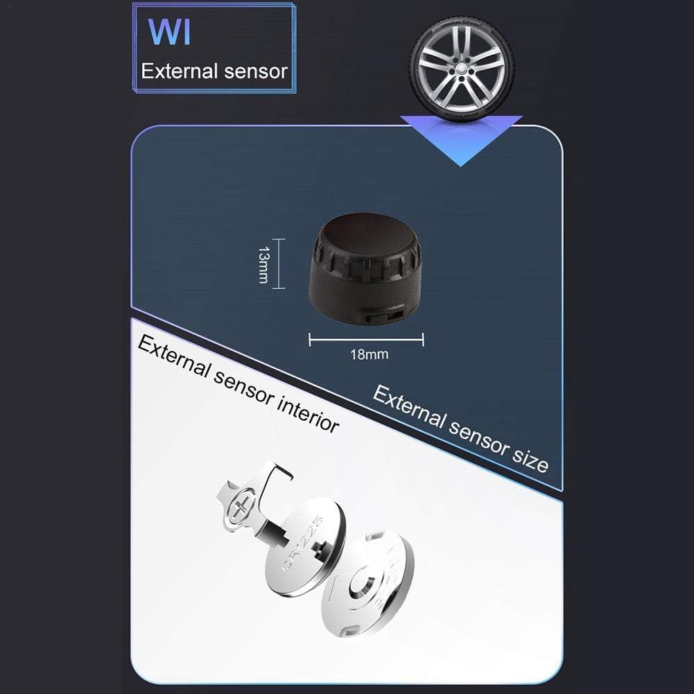 Capteur sans fil de moto Syst/ème de contr/ôle de la pression des pneus TPMS Syst/ème de moniteur /étanche avec 3 capteurs int/égr/és LCD Affichage de la fonction dalarme Affichage de la temp/érature