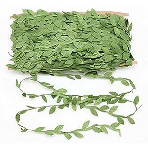 En Ge 131Ft Artificial Vine Leaves Ribbon Fake Hanging Plants Wreath Silk Ivy Garlands for Party Wedding Home Decor 11