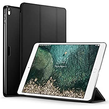 ESR iPad Pro 10.5 Case, Lightweight/Pretty Color/Perfect Fit/Easy to take off Smart Trifold Stand Case with Black Plastic Back Cover for iPad Pro 10.5 inch 2017 Released (Black)