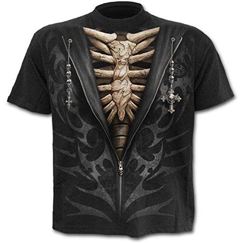 Spiral Unzipped T-Shirt schwarz