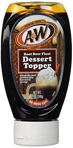 A&W Root Beer Float Dessert Topper Syrup, 12-Ounce (Pack of 2) ()