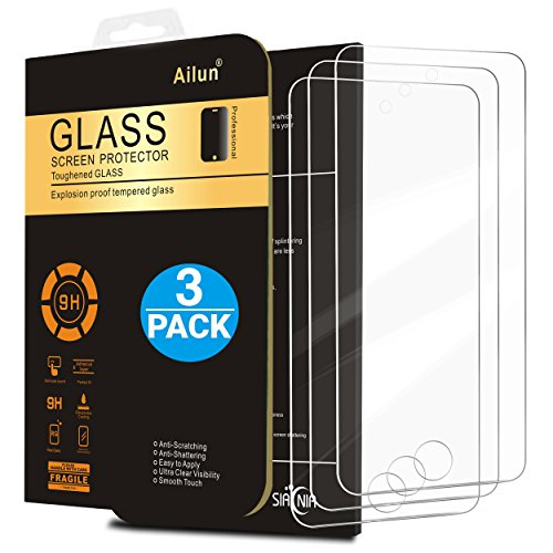 iPod Touch 6 Screen Protector,[3Pack]by Ailun,Curved Edge